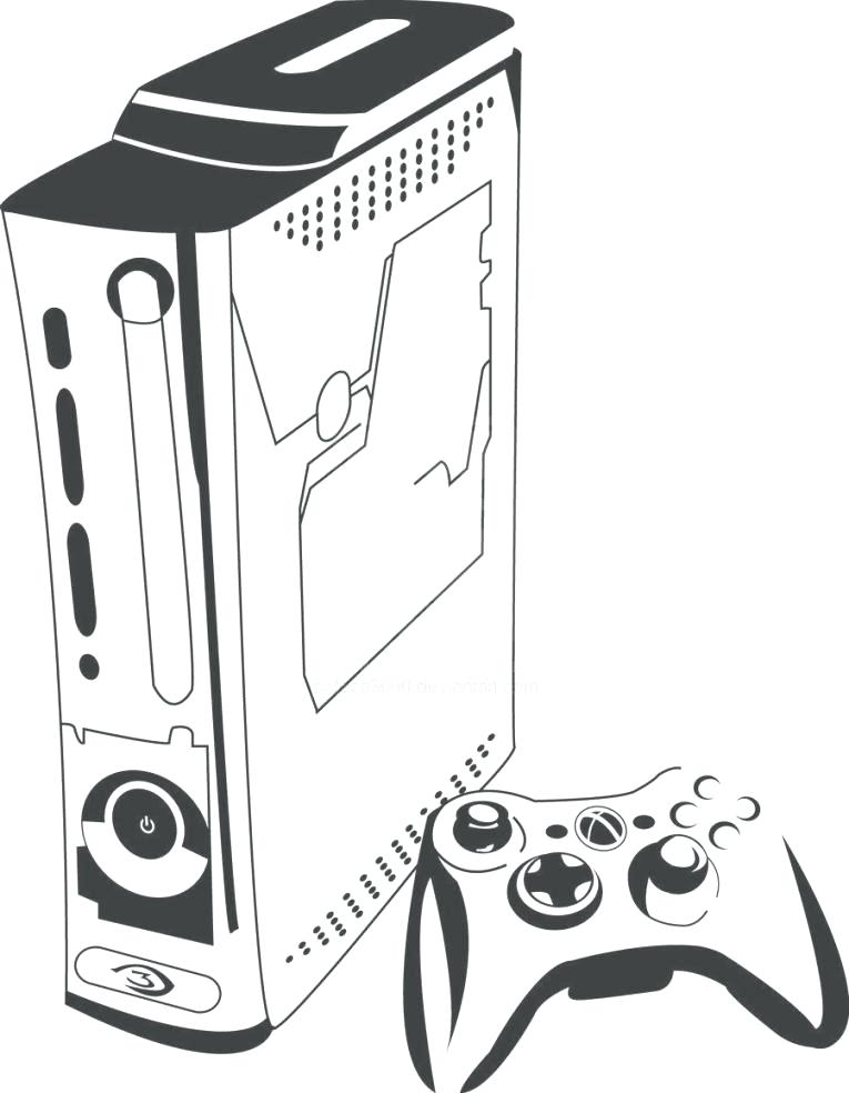 Xbox Controller Coloring Pages At Getdrawings Com