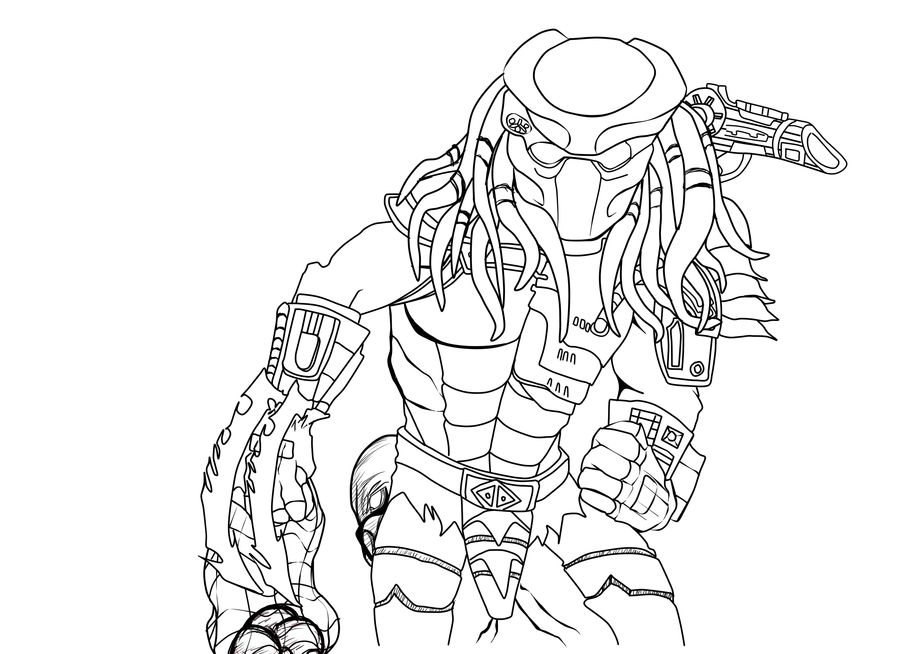 Avp Alien Vs Predator 2 Coloring Pages - Coloring Pages For All ... | 654x900