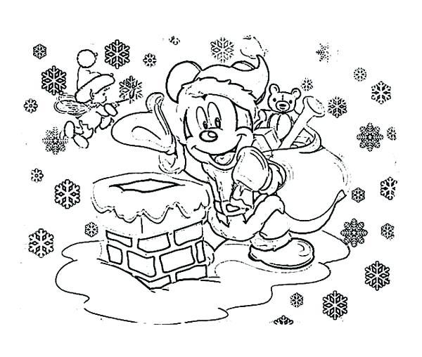 600x508 Mickey Mouse Xmas Coloring Pages Vanda