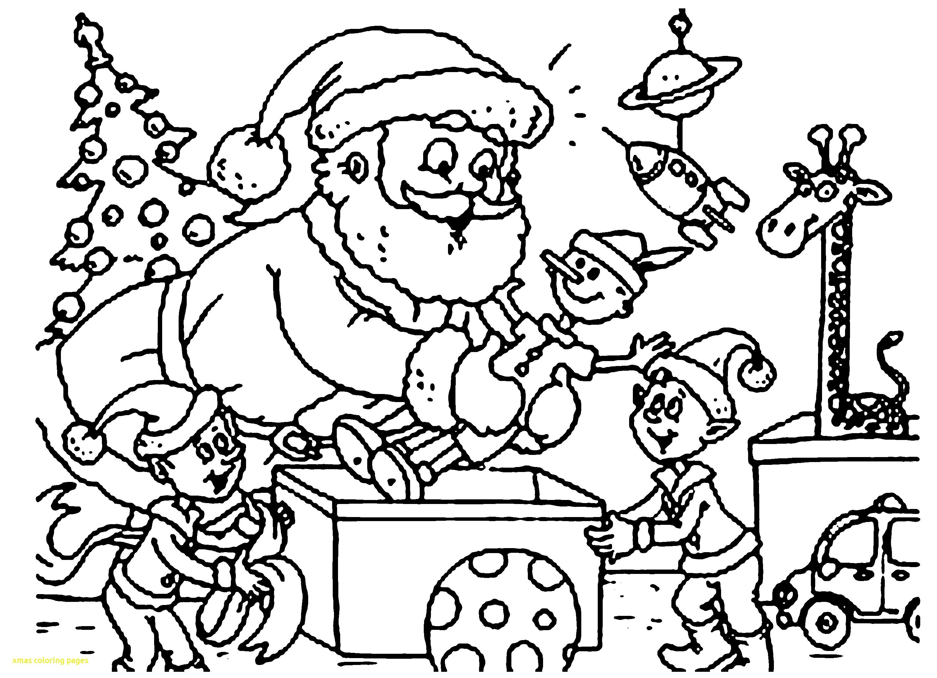 3016x2182 Xmas Coloring Pages With Christmas Free And Gambarmewarnai