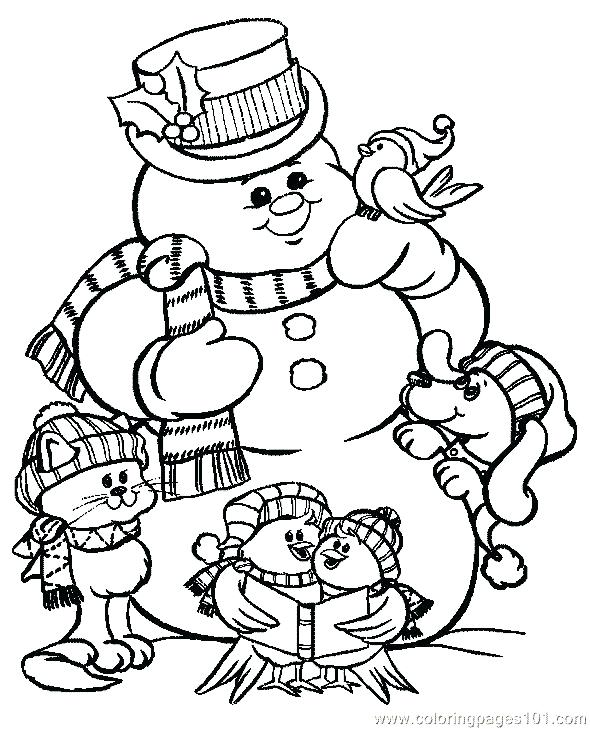 590x729 Xmas Coloring Pictures