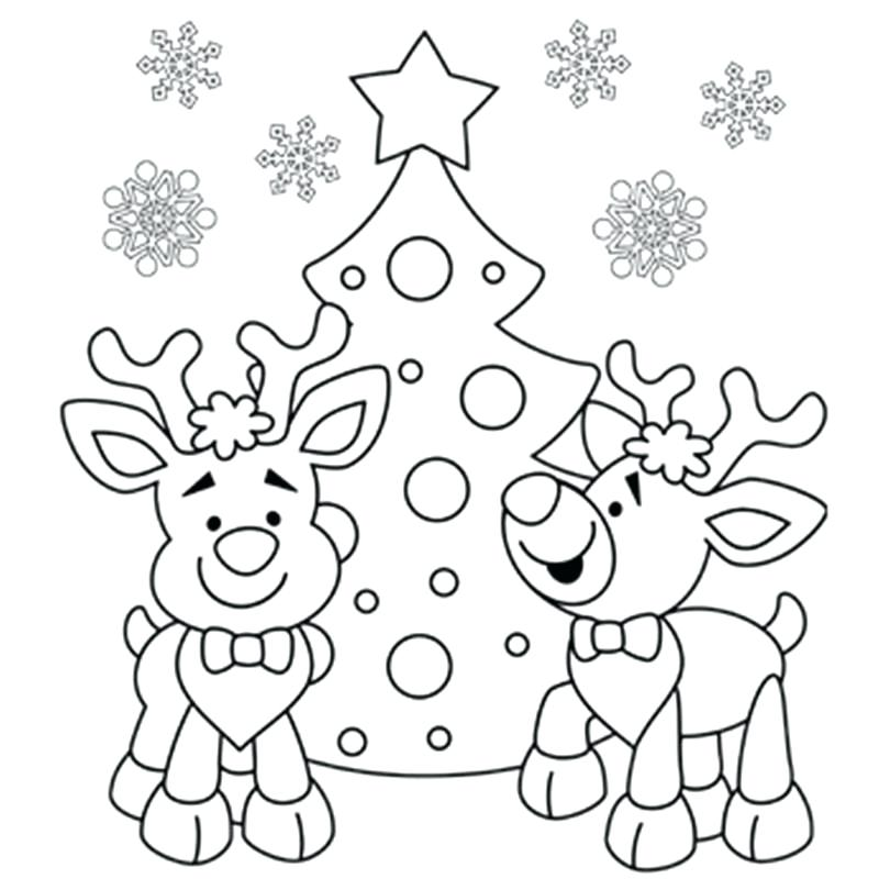 800x800 Printable Xmas Coloring Pages