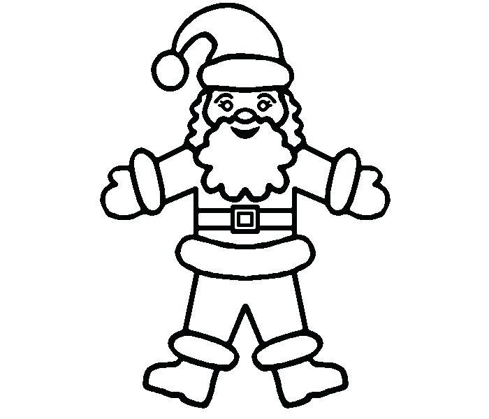 700x600 Santa Coloring Pages