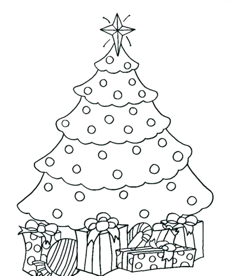 The best free Christmas tree coloring page images. Download ...