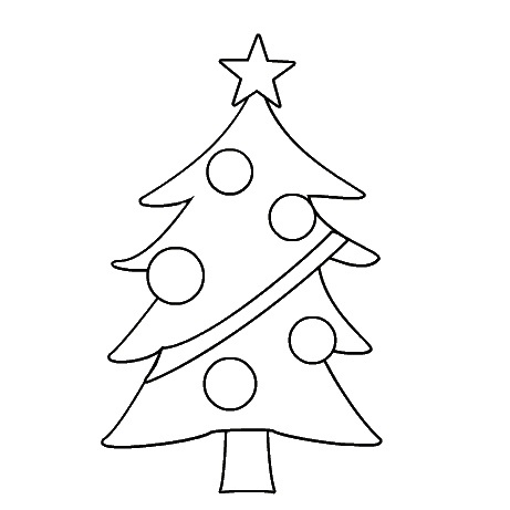 461x461 Christmas Tree Coloring Sheets Coloring Page