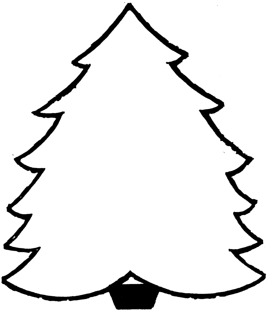 884x1024 Blank Christmas Tree Coloring Pages Printable