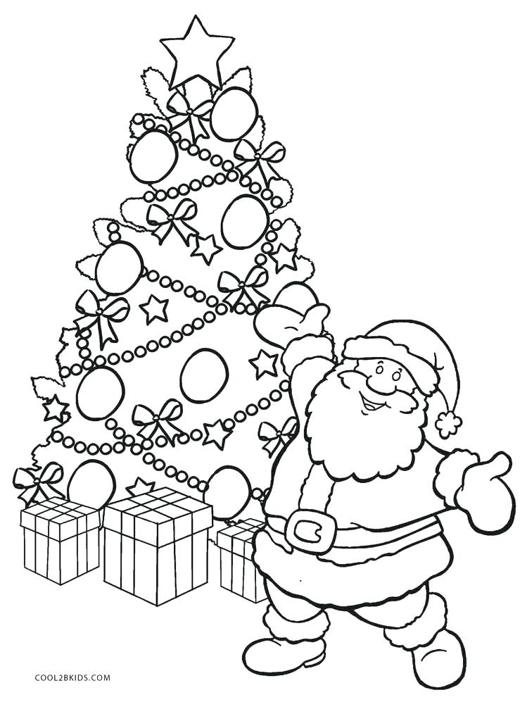 749x997 Plain Christmas Tree Coloring Page Tree With Coloring Page Plain