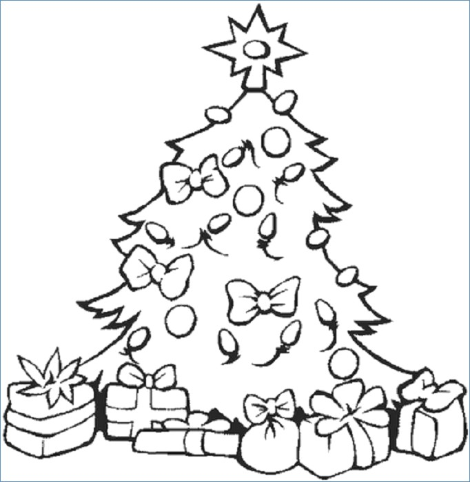 682x700 Christian Christmas Tree Coloring Pages