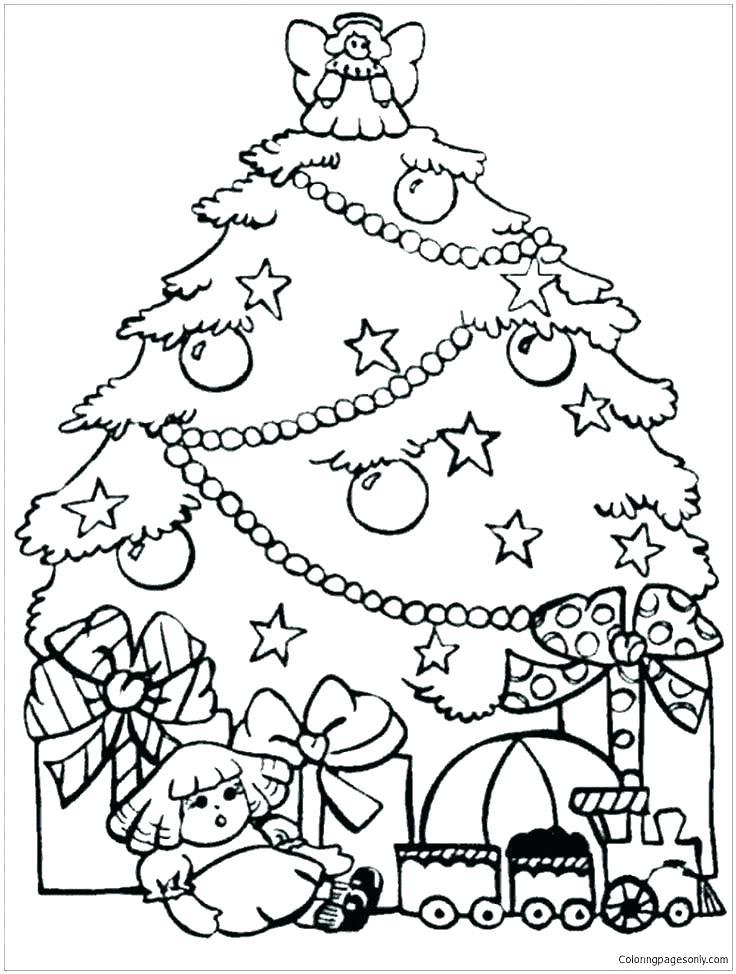 736x974 Printable Christmas Ornaments To Color Printable Tree Coloring