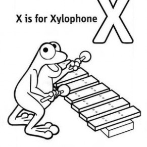 291x291 Alphabet Letter X Is For Xylophone Coloring Page Bulk Color