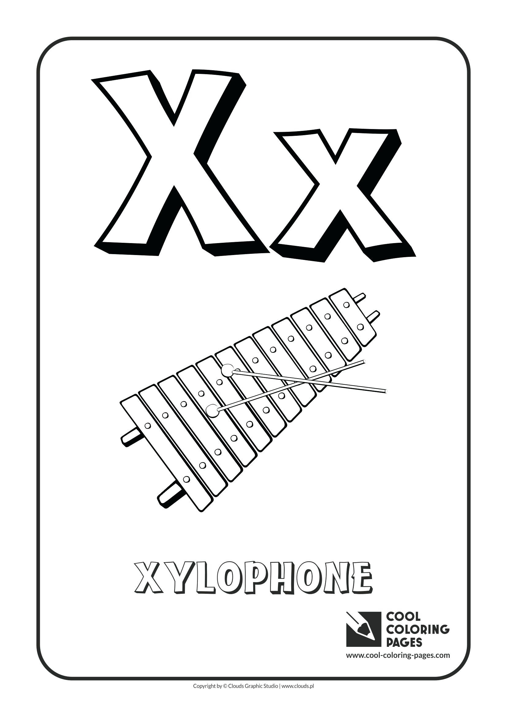 1654x2339 Letter X Is For Xylophone Coloring Page Free Printable Pages Fancy