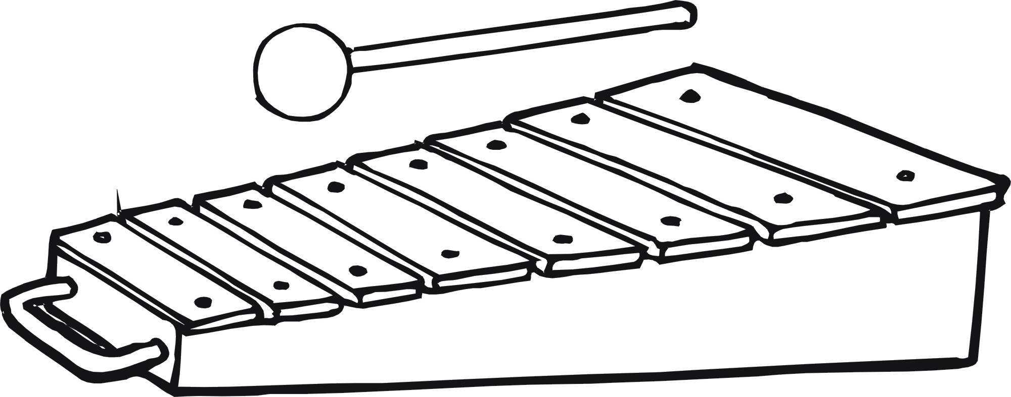 2000x787 Toy Coloring Page Xylophone