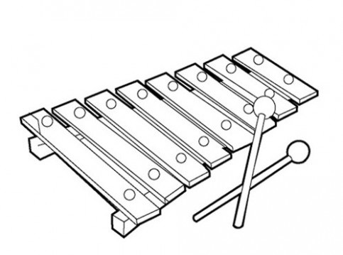 483x359 Xylophone Coloring Pages