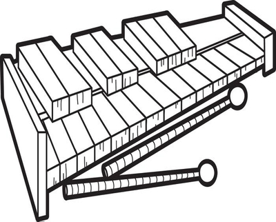 400x322 Xylophone Coloring Book Pages Is For Page