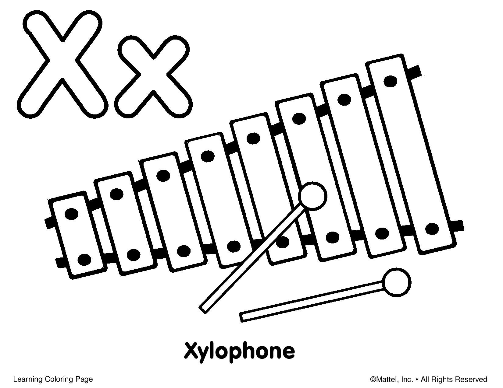 1650x1275 Beautiful Coloring Pages Xylophone