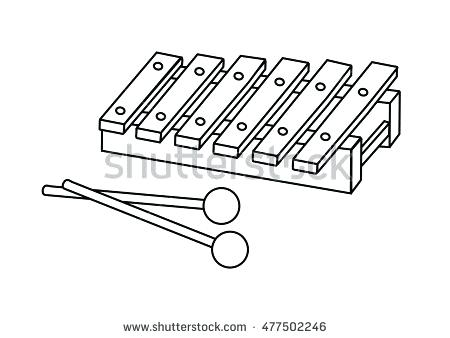 450x338 Xylophone Coloring Page Coloring Page Xylophone Xylophone