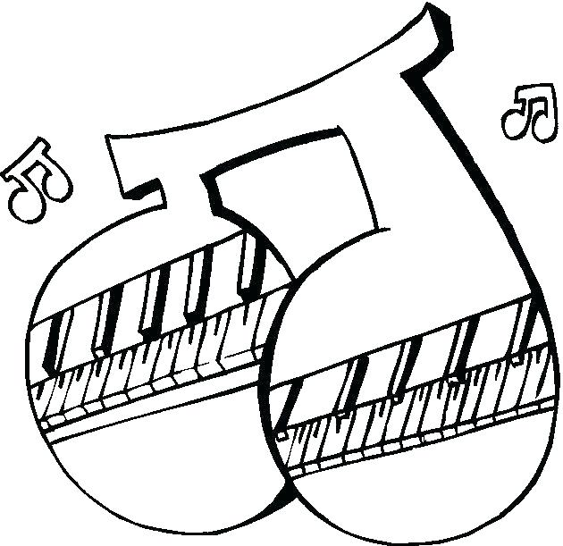 630x611 Xylophone Coloring Page Instrument Coloring Sheets Music