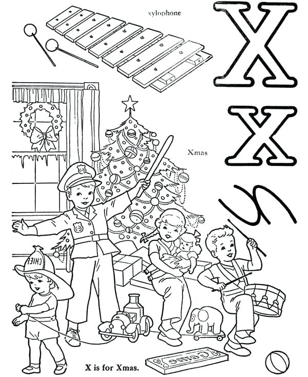 600x734 Xylophone Coloring Page Letter X Words From Letter X Coloring Page