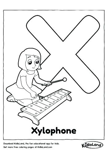 350x495 Xylophone Coloring Page Music Coloring Pages For Kindergarten Cool