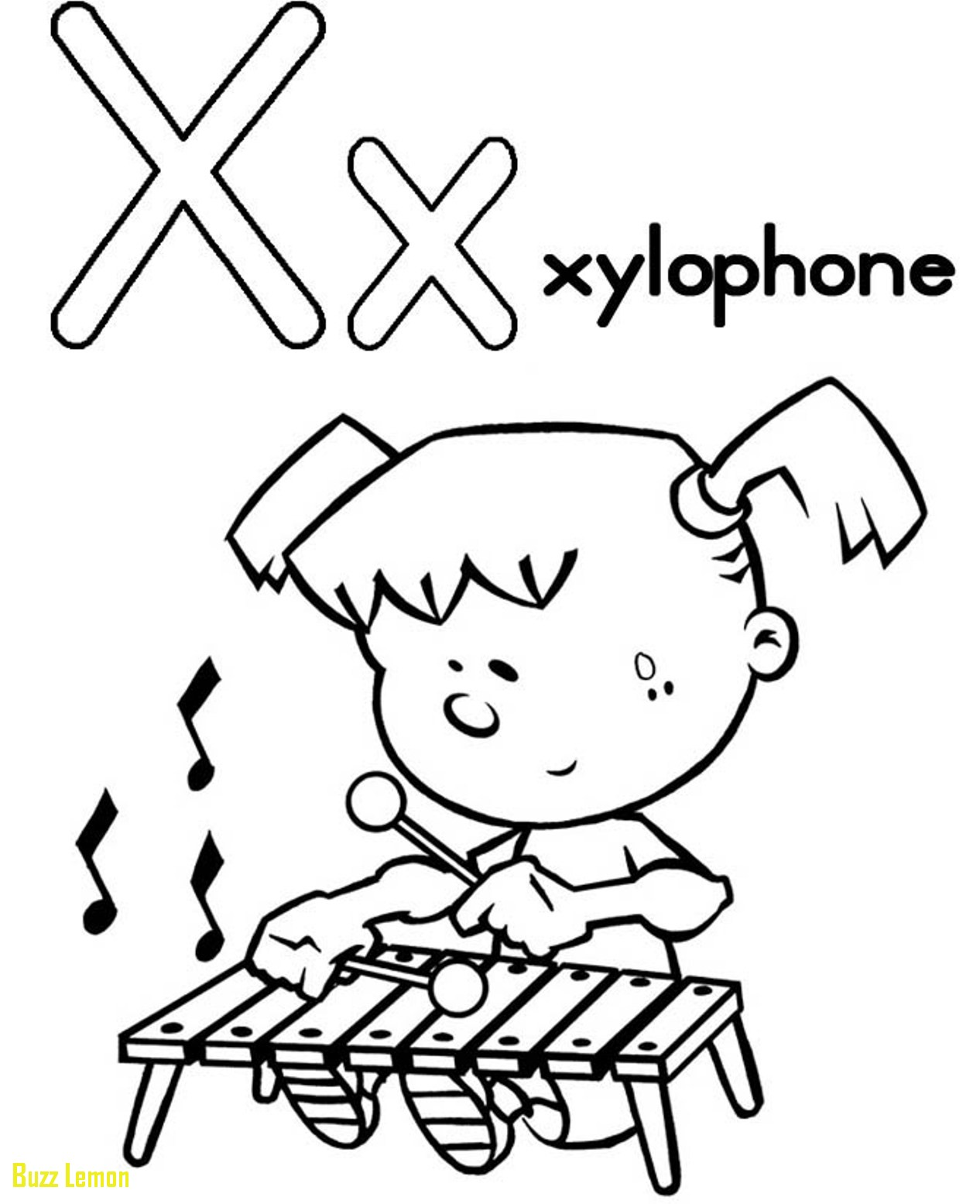1266x1555 Xylophone Coloring Page New Xylophone Coloring Page Free Buzz