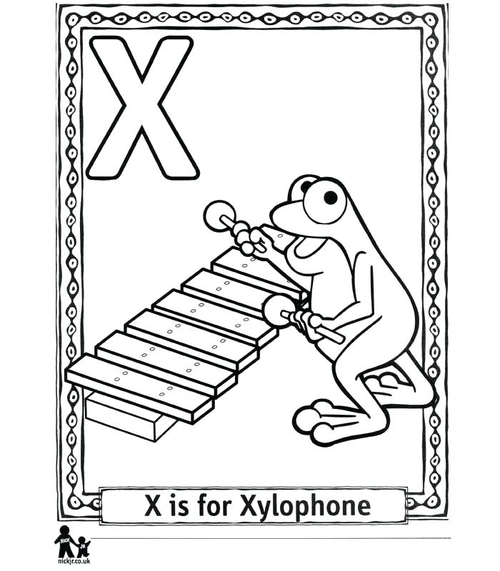 700x800 Xylophone Coloring Page Pages Kids Colouri On X Ray Coloring Page