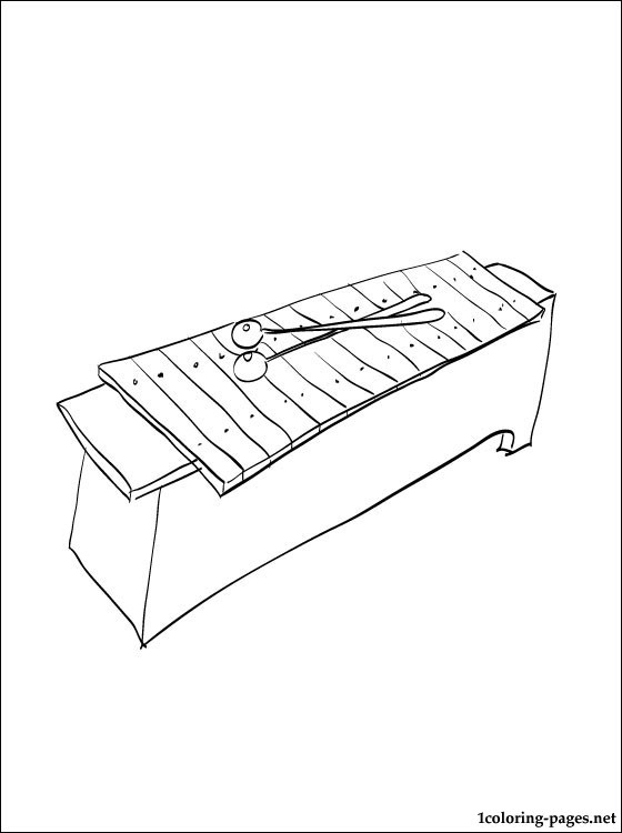560x750 Xylophone Coloring Page Coloring Pages