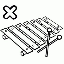 268x268 Coloring Pages Xylophone Xylophone Coloring Page Free Coloring