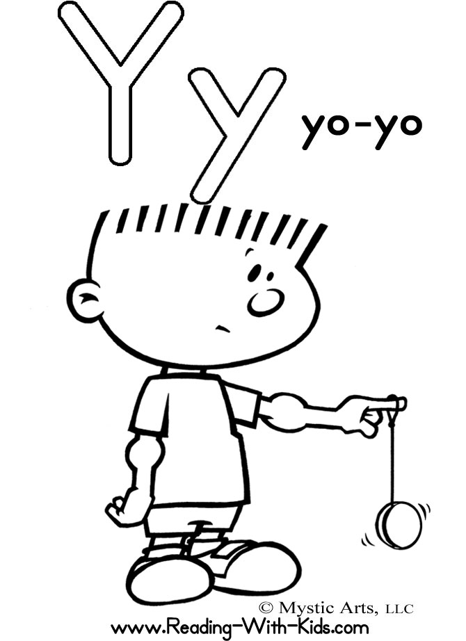 Y Coloring Pages