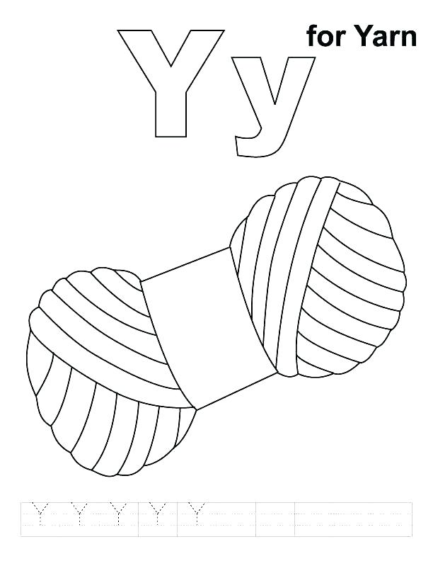 612x792 Y Coloring Pages Letter Y Coloring Pages Letter Y Yarn For Letter