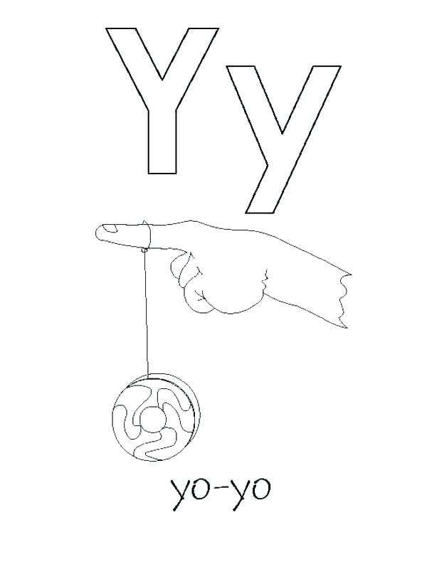 600x800 Coloring Letter Y Coloring Page Sheet Pages Alphabet For Yo Pag