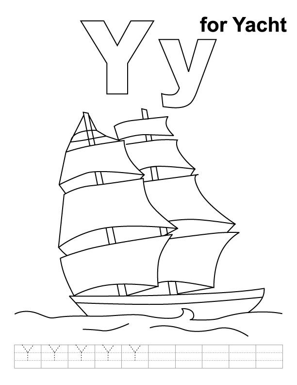 Yacht Coloring Pages At Getdrawings Com