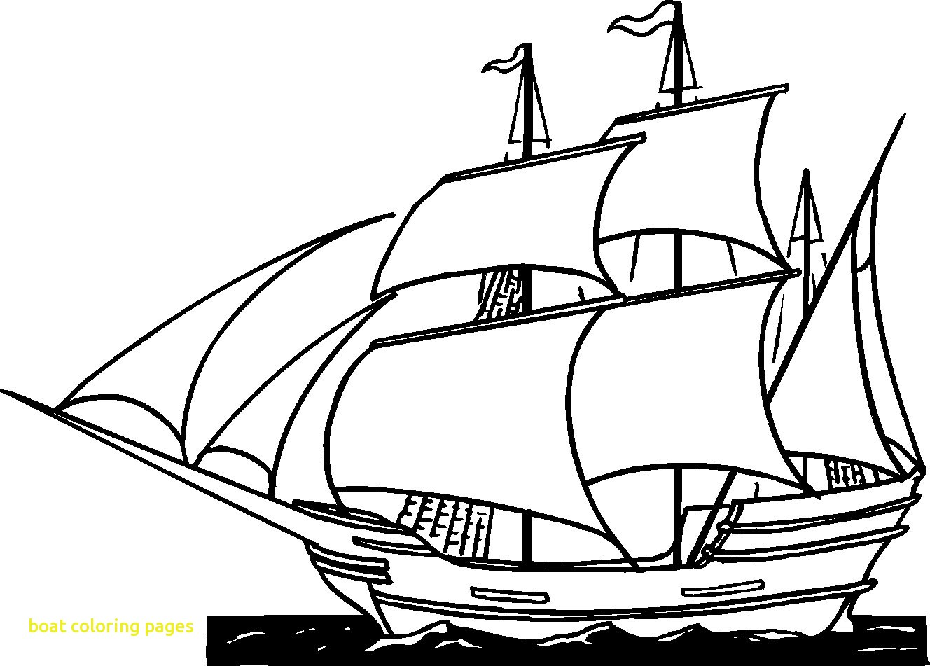 1328x951 Boat Coloring Pages With Drawn Sailing Boat Coloring Page Pencil