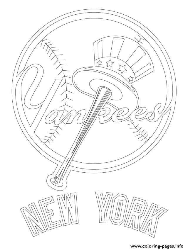 640x853 New York Coloring Pages New Logo Baseball Sport Coloring Pages New