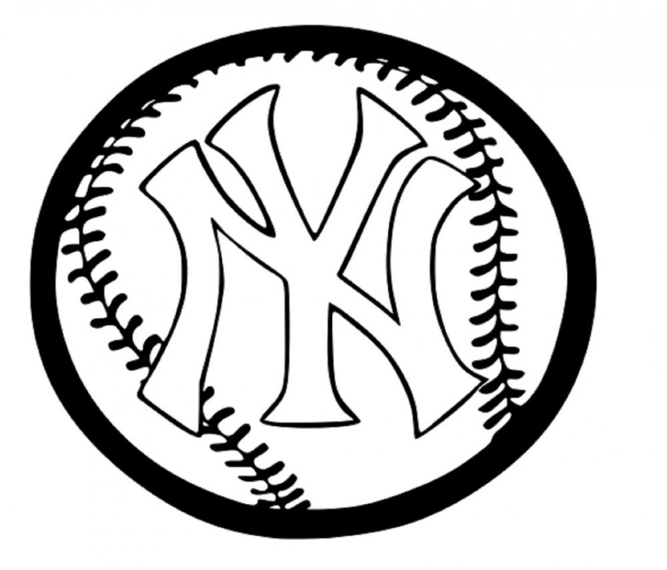 940x803 New York Yankees Coloring Pages Many Interesting Cliparts On Red