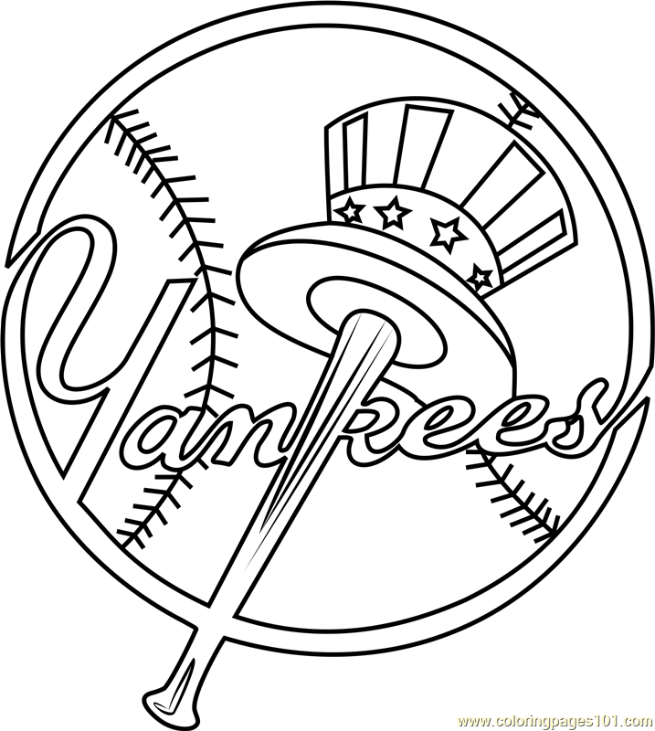 717x800 New York Yankees Logo Coloring Page