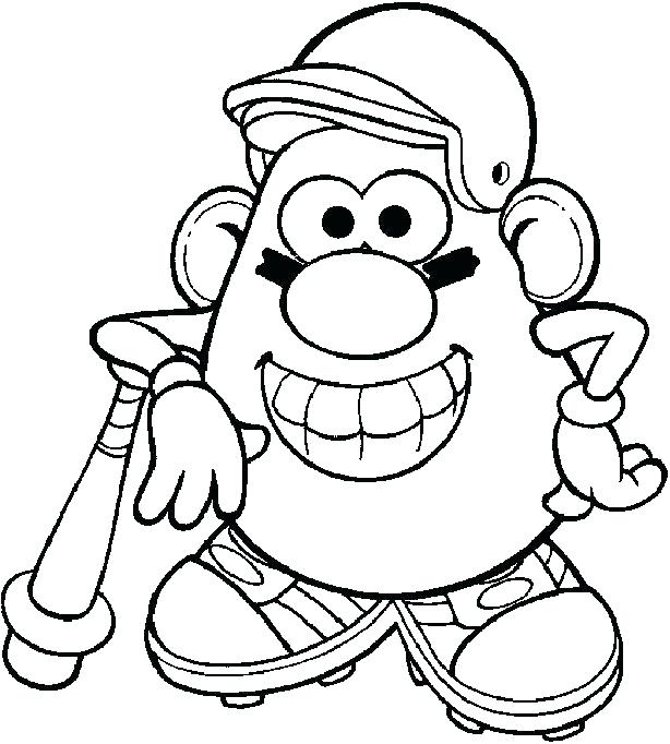 614x682 Coloring New York Yankees Coloring Pages Potato Head Free New