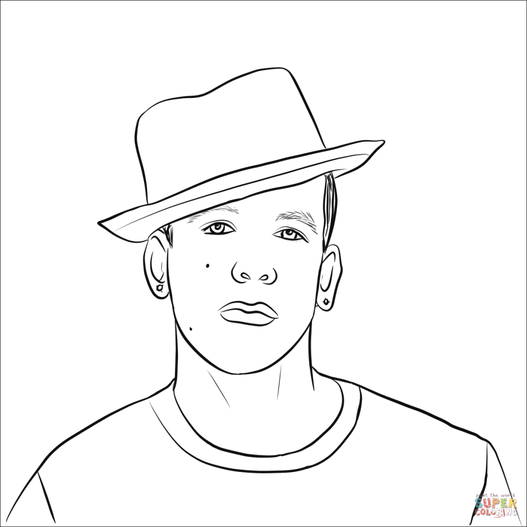 1024x1024 Daddy Yankee Coloring Pages