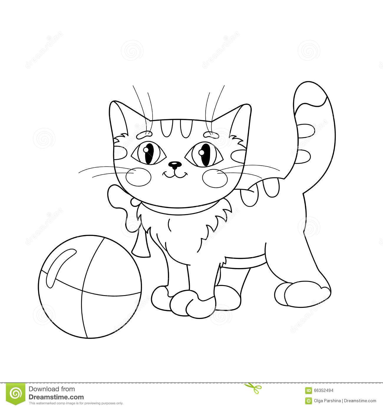 1300x1390 Fascinating Coloring Page Outline Of A Fluffy Kitten Playing