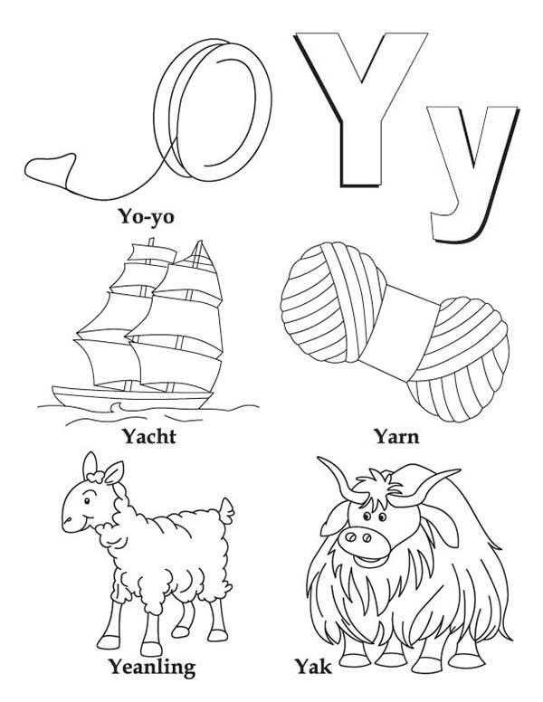 600x776 Letter Y Coloring Pages