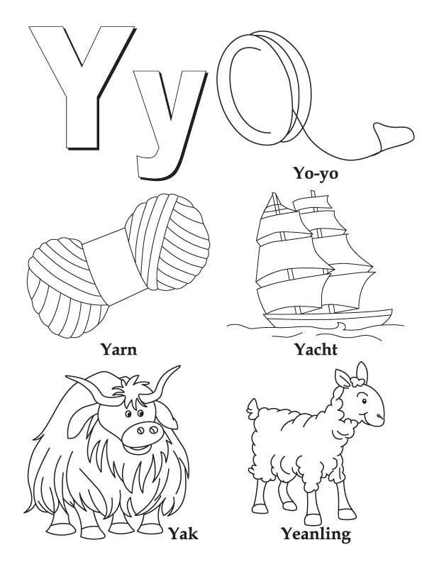 612x792 My A To Z Coloring Book Letter Y Coloring Page