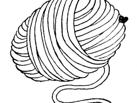 440x330 Yarn Coloring Page Twisty Noodle, Yarn Coloring Page