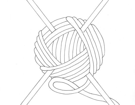 545x425 Thread Coloring Page Ball Of Yarn Coloring Page Wee Folk Art