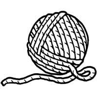 200x200 Ball Of Yarn Coloring Pages Surfnetkids