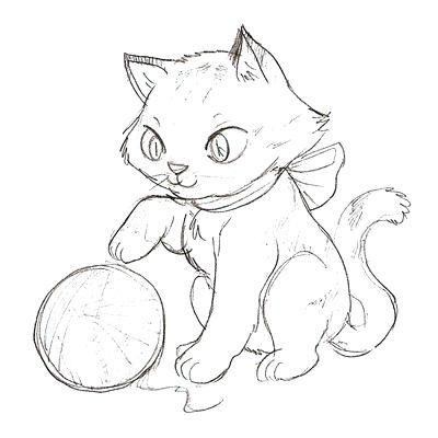 400x400 Cartoon Cat Coloring Pages Cat Color Pages Printable Kitten