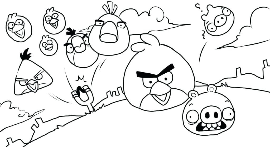 1024x559 Angry Birds Coloring Pages Yellow Angry Bird Coloring Page Angry