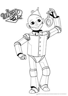 236x333 Wizard Of Oz Tin Man Coloring Page From Wizard Of Oz Category