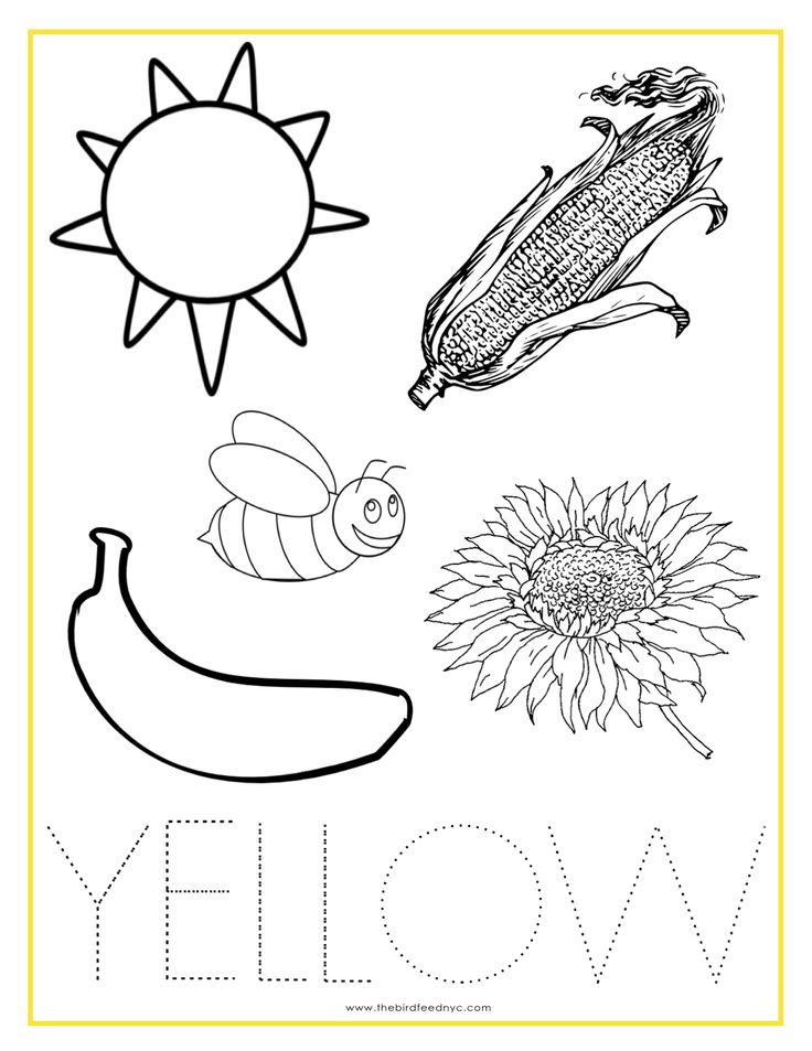 Yellow Coloring Pages