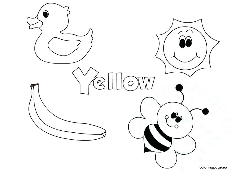 804x595 Yellow Coloring Page Coloring Book Coloring Page