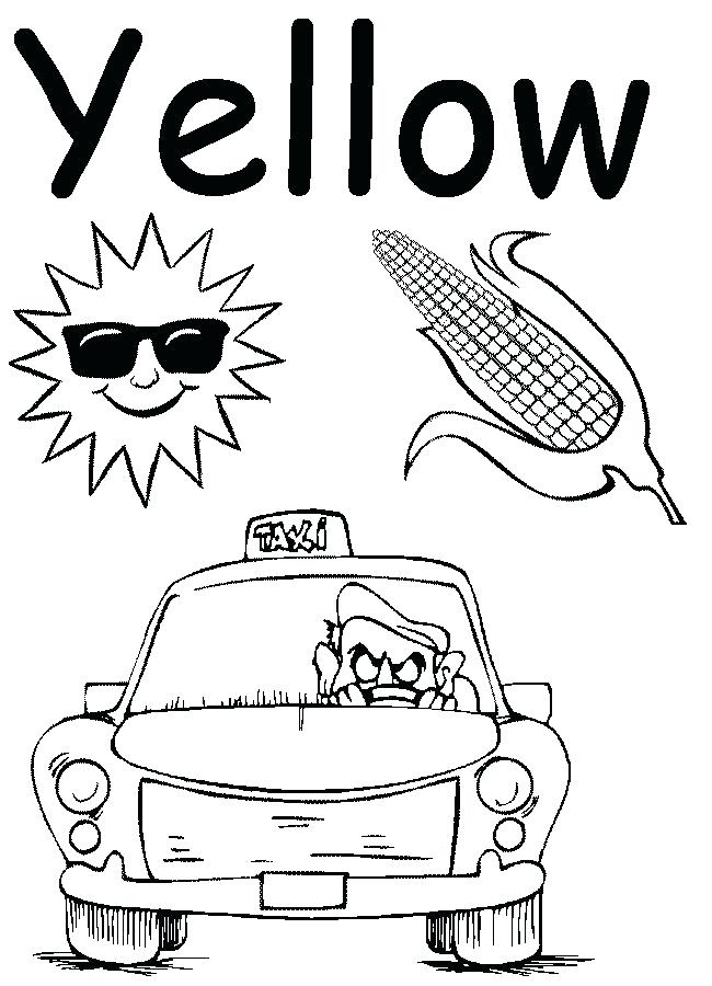 650x900 Yellow Coloring Page Yellow Coloring Page Yellow Lime Coloring