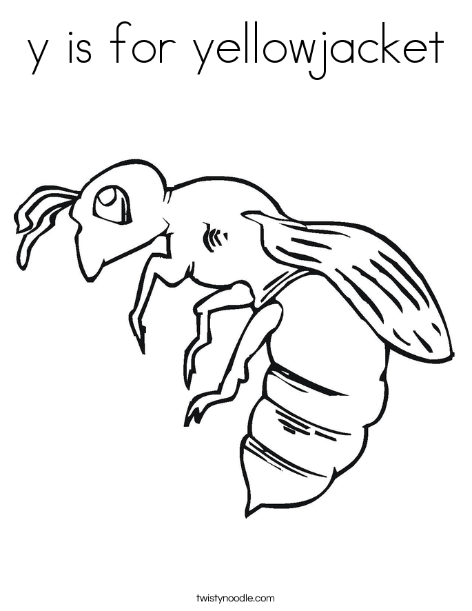 685x886 Y Is For Yellowjacket Coloring Page